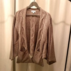 Dolman Sleeve Open Front Chunky Sweater